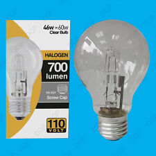 12x 110V 46W=60W Halogen GLS E27 Clear Construction Site Festoon Light Bulb Lamp