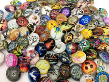 50pcs Snaps Button Glass Ginger Snap Charm Button 18MM Mixed Style Jewelry Lots