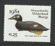 Bigjake: MA11, $1.25 White Winged Scoter Decoy, 1984 Massachusetts