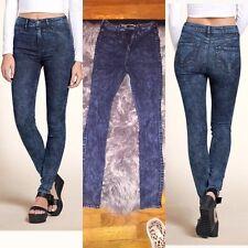 HOLLISTER acid vtg wash denim jeans skinny leggings jeggings stretch boho 7R 7