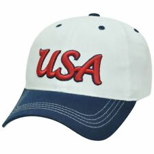 Rhinox United State of America USA Soccer Two Tone Sun Buckle Curved Bill Hat