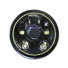 """Wisamic 5-3/4"""" 5.75"""" LED Headlight - with Halo DRL Compatible with Harley Dav..."""