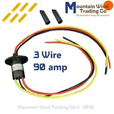 3 Wire Slip Ring 90 Amp KIT for Wind Turbine Permanent Magnet Alternator PMA PMG