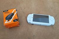 Sony PlayStation Portable PSP 2003 Slim Lite Ceramic White Console + Charger