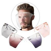 Unisex Face Shield Anti-fog Reusable with Glasses Washable Protection Visor