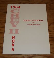 1964 Chevrolet Chevy II Nova Wiring Diagrams for Complete Chassis 64