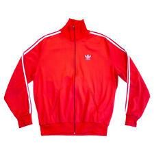 Adidas Originals Track Jacket | Vintage 80s 90s Tracksuit Top Sportswear Red VTG