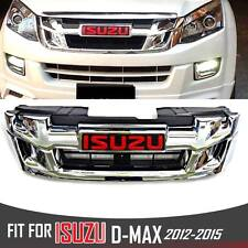 FRONT CHROME GRILL GRILLE FOR ISUZU X SERIES DMAX HOLDEN RODEO D-MAX 2012-2015