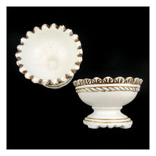 2 Pc - 25CM Rustic Ceramic Dish Wedding Gift Decor Flowers Party Centrepiece (U)