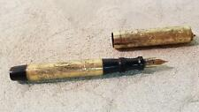Gold filigree Wahl ? Lady fountain pen, ring top