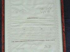 2 abecedaire,travaux d ecole de couture ancien.art populaire