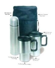 STAINLESS STEEL TRAVEL MUG 4PC SET W CARRING CASE NEW