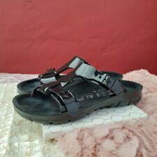 Birkenstock Alpro Patent T Strap Comfort Sandals 37 Narrow