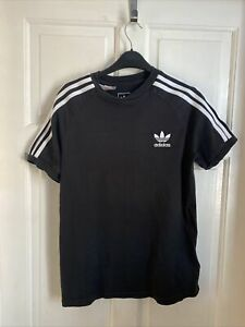 Boys Adidas T-short Age 12-13 Years - Black / White