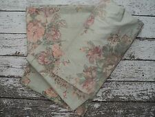 RALPH LAUREN Squire's Path Floral 4 Pc Full Sheet Set Green Pink Khaki  EUC
