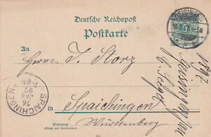 PK Dt.Reichspost , 1897 , Geisingen