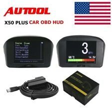 AUTOOL X50 Plus Car OBD Head Up Display Smart Digital Meter Alarm HUD Gauge USA