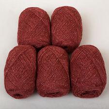 *250g*PURE BRITISH WOOL+SILK* 4 Ply. Terracotta.yarn.knitting.scottish.tweed.red