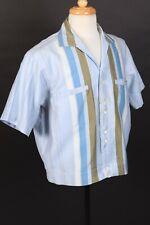 New listing Vtg 60s Rayon Cotton Blend Loop Collar Short Sleeve Shirt Usa Mens Large