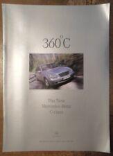 MERCEDES BENZ C CLASS SALOONS orig 2000 UK Mkt Publicity Brochure