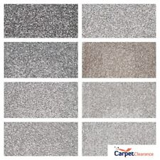 Carpet Remnant Quality Thick Pile Saxony Action Back 4 m Wide GREY SILVER BROWN