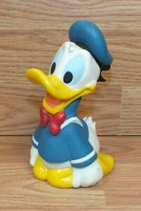 "Genuine Disney 6"" (inch) PVC / Plastic Donald Duck Collectible Coin Money Bank"