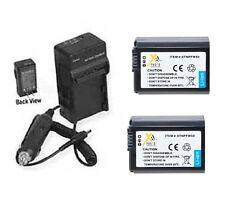 2X Batteries + Charger for Sony NEX-3A NEX-3C NEX-3CA NEX-3CD NEX-3D A7S IL-CE7S