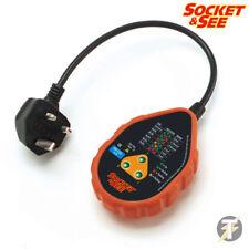 Socket & See sok42uk RESISTENTE Tester de enchufes with 3Pin Enchufe