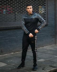 AC Mens Full Tracksuit (Hoodie & Bottoms) Street Camo Mens Poly Tracksuit