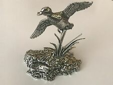 Duck flying from reeds Pewter Figurine Paperweight Ornament 3D CODEMed1