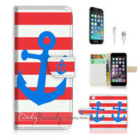 ( For iPhone 7 ) Wallet Case Cover P0149 Anchor