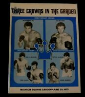1975 Muhammad Ali vs Joe Bugner Program Madison Square Garden Rare Ex/MT