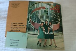 Vintage GIRL SCOUT CATALOG 1962-1963, Original Mailer & subscription inserts EXC