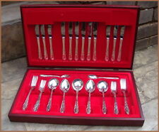 Vintage Complete Traditional GROSVENOR REGENCY Silverplate Cutlery+Canteen 44pcs