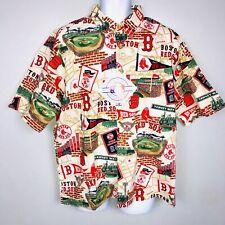 Red Sox Reyn Sports Mens Shirt SZ L Fenway Genuine Merchandise Short Sleeve New