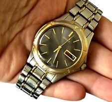 Vintage Men's Watch Seiko 7N43 6A09 Quartz Day Date St Steel Runs