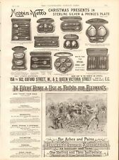 1893 ANTIQUE PRINT - ADVERT- MAPPIN & WEBB, SILVER & PLATE, ELLIMAN'S, RUGBY