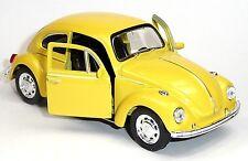 günstig: VW Käfer (1960) Modellauto 1:34 Metall Spritzguss 12cm gelb von WELLY