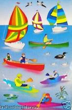 Sandylion Sail Boat Kayak Boating Scrapbooking Stickers A125 * Retired Design*
