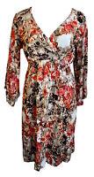 Cream Kleid Gr. 34 XS Luana Dress Empire geblümt Retro 3/4 Arm Wickel W247 NEU