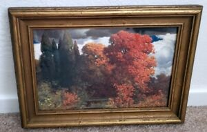 Antique Lipman Wolfe & Co. Art and Crafts Vintage Picture Frame and Art Print