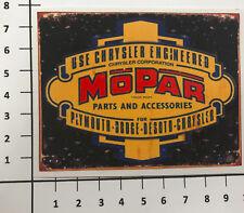 MOPAR PARTS Aufkleber Sticker Chrysler Plymouth Dodge US Car Tuning V8 OEM Mi355