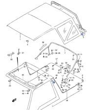 suzuki car sunroofs convertibles hardtops ebay Jeep Samurai new genuine suzuki vitara soft top deck canvas roof parts upper frame bracket lh