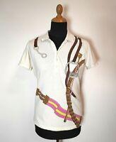 Women Vintage Polo Ralph Lauren Shirt Skinny Fit White XL Designer Style