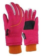 Girls Ski Snow Winter Gloves Waterproof  7 - 16 Years NWT Dark Pink #20216