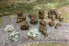 Rubble & Cargo Battlefield Ruins War 28mm DnD Warhammer Tabletop Scatter Terrain