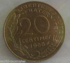 20 centimes marianne 1988 : SUP : pièce de monnaie française