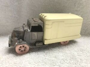 Vintage Hard Plastic Mack Truck with pink Wheels