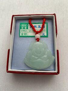 1 Adjustable Red Cord Lucky Chinese Green Jade Like Buddha Budda Charm Necklace