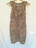 Audrey 3+1 Womens Dress Sleeveless Ruffle Floral Black Size S Sundress Chico